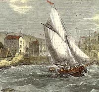Engraving of Brixham