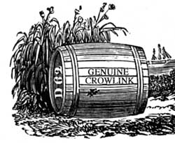 Wood engraving by Thomas Bewick of barrel