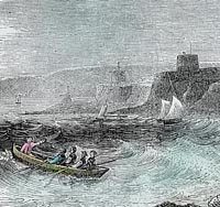 Engraving of Pevensey Bay