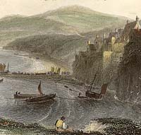 Coloured engraving of Robin Hood's Bay