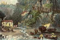 Engraving of Shanklin Chine