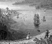 Engraving of Teignmouth in the nineteenth century