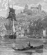 Engraving of Whitby Harbour